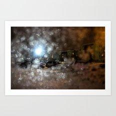 Abstract Winter Windshield Art Print