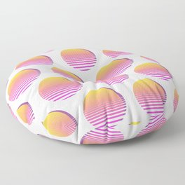 80s Gradient Retro Vaporwave Sun Floor Pillow