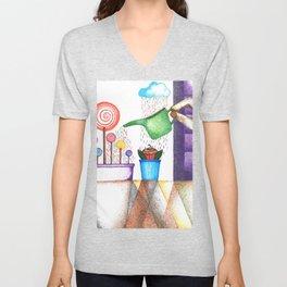 imagine (pointillism) Unisex V-Neck