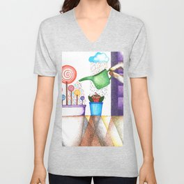 imagine (pointillism) Unisex V-Neck