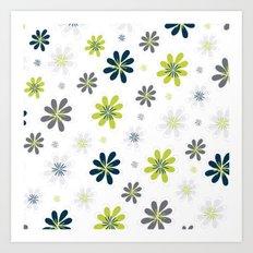 Simple Multi Flower Art Print