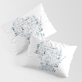 Wisconsin Up North Collage Pillow Sham