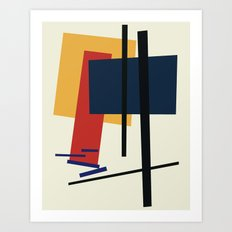 Tribute to K. Malevich (n.1) Art Print