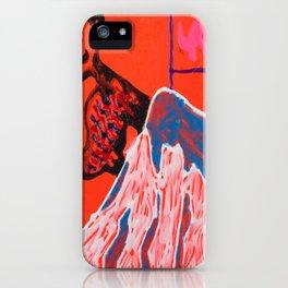 Dino climbing Mt. Rainier iPhone Case