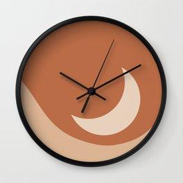 Moonrise Minimalism - Orange Wall Clock