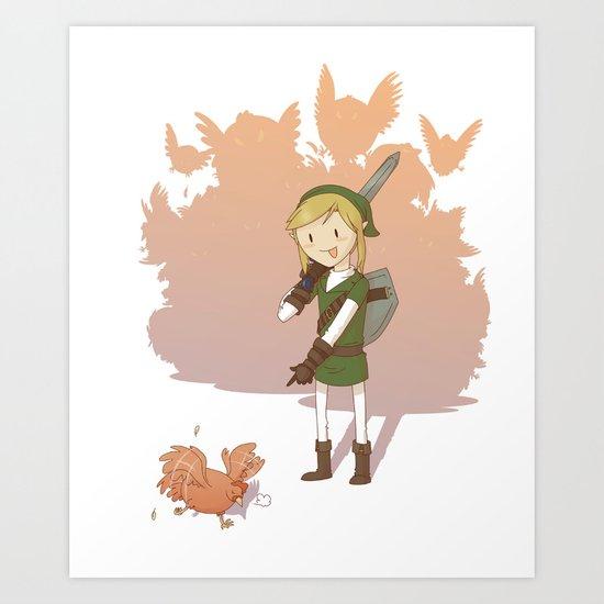 Link - Chicken Art Print