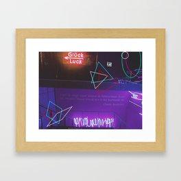 Neon Geometry.. Framed Art Print
