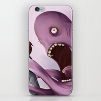 kraken iPhone & iPod Skins featuring Kraken by Jacques Marcotte