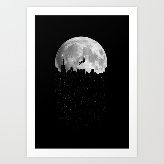 The Moon Climber Art Print