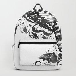 Watercolor Skull Moth Backpack
