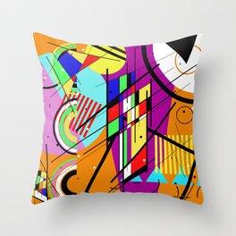 Crazy Retro 2 - Abstract, geometric, random collage Throw Pillow