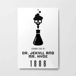 A Century of Horror Classics :: Strange Case of Dr. Jekyll & Mr. Hyde Metal Print