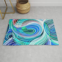 Everything Is Created Imperfect Mediterranean Waters Rug