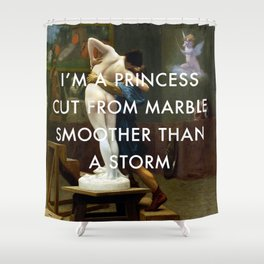 Pygmalion Cut From Marble Shower Curtain