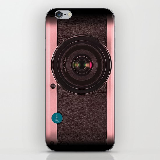 Vintage Camera III - Rosé Gold iPhone & iPod Skin