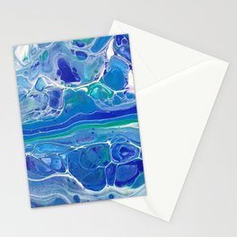 Swipe. A blue and White Abstract Stationery Cards