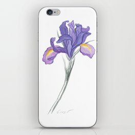 Iris 03 Botanical Flower * Lavender Purple Dutch Iris iPhone Skin