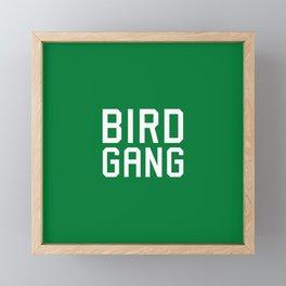 Bird gang Framed Mini Art Print