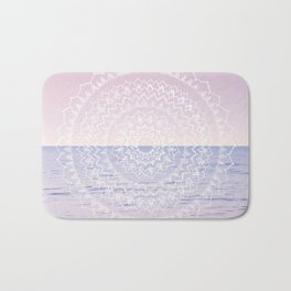 Blissful Ocean Dream Mandala #1 #pastel #wall #decor #art #society6 Bath Mat