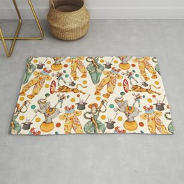 colored vintage style circus pattern Rug