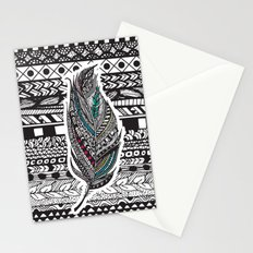 Aztec Feather. Stationery Cards