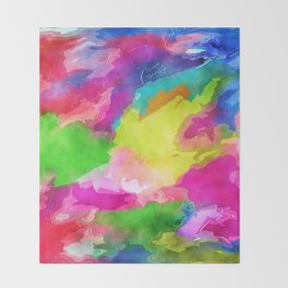Watercolor Ink Abstract Throw Blanket