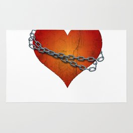 chained heart Rug
