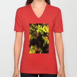 Black And Yellow - Abstract, textured painting Unisex V-Neck