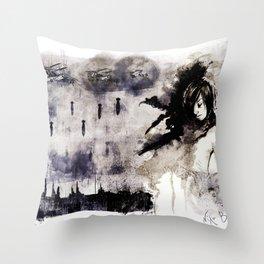 Miseria de los miserables (color version) Throw Pillow