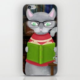 Kitty Corner Coffee And Reading Room iPhone Skin