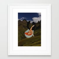 toilet Framed Art Prints featuring mountain toilet by •ntpl•