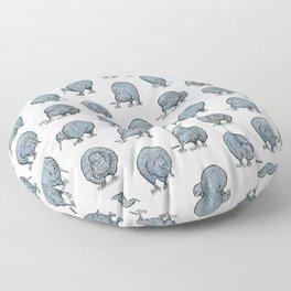 Hungry Kiwis – Blues Floor Pillow