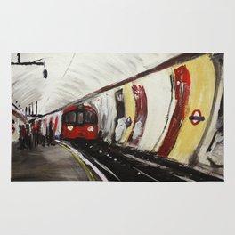 London Underground Wood Green Rug