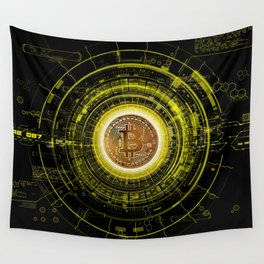 Bitcoin Blockchain Cryptocurrency Wall Tapestry