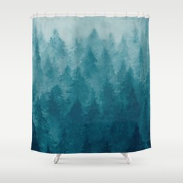 Misty Pine Forest Shower Curtain