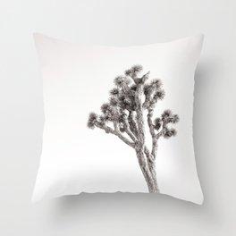 Joshua Tree in Black & White Throw Pillow