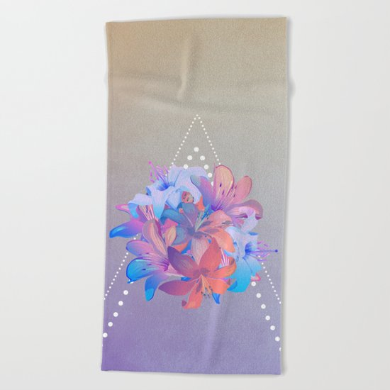 lily bouquet Beach Towel