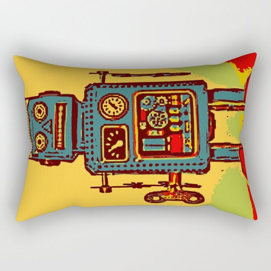 Robot III Rectangular Pillow
