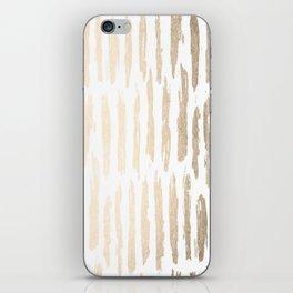 White Gold Sands Vertical Dash iPhone Skin