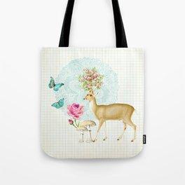 Doily deer Tote Bag