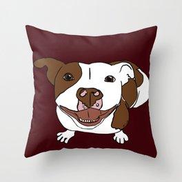 Celia Mae The Pit Bull Throw Pillow