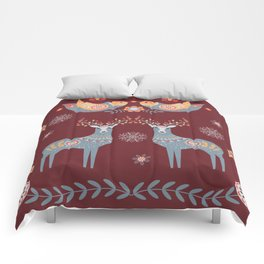 Nordic Winter Red Comforters