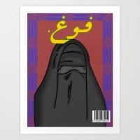 arab Art Prints featuring Arab Vogue by Bothayna Al Zaman