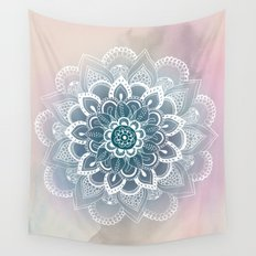 Winter Fountain Mandala Wall Tapestry