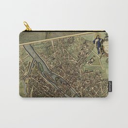 Old Paris Map and other manuscripts Carry-All Pouch
