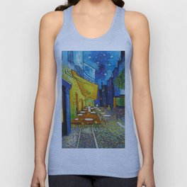 "Vincent van Gogh ""Cafe Terrace, Place du Forum, Arles"" Unisex Tank Top"