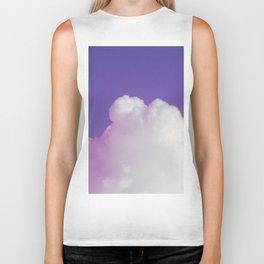 Big Fluffy Cloud Against a Purple Sky, Beautiful Cloud and Beautiful Sky Biker Tank