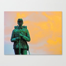 A Soldier's Sunset Canvas Print