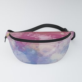 Bright Pastel Paint Splash Abstract Fanny Pack
