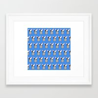 frenchie Framed Art Prints featuring frenchie by turddemon